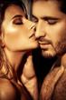 Detaily fotografie sensual kiss
