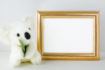 Nursery mockup with white bear