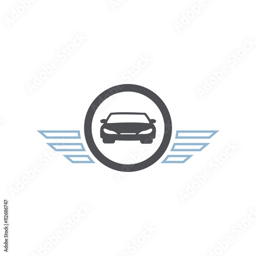 Icon Car Symbol Wings Logo Deisgn Vector Stock Image And Royalty