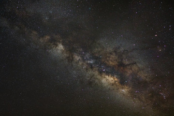 milky way galaxy, Long exposure photograph,with grain,high resol
