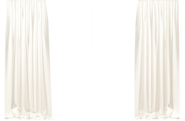Curtains isolated on white background.