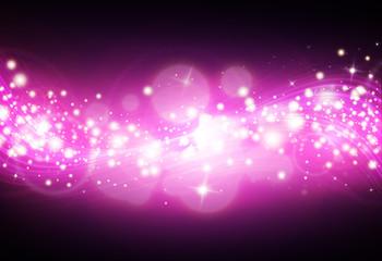 Dark Purple glitter sparkle defocused rays lights bokeh abstract sparkling  background.