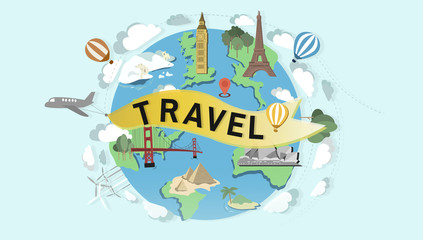 Travel Destination Global World Traveling Concept