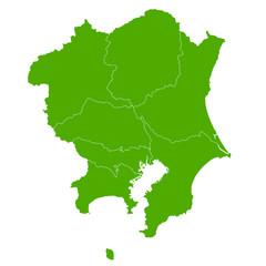 関東 地図 緑 アイコン
