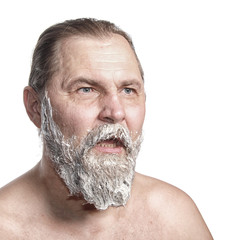 man color a beard