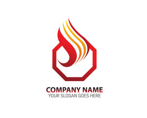 Eternal Fire Abstract Logo Icon Template