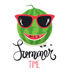 Summer time/Watermelon smiling in sunglasses