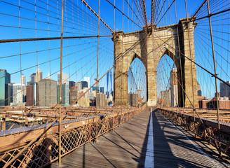 Wall Mural - New York City with brooklyn bridge, Lower Manhattan, USA