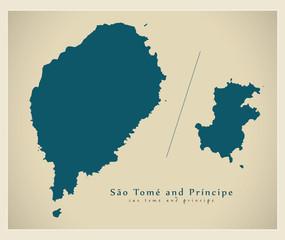 Modern Map - Sao Tome and Principe ST