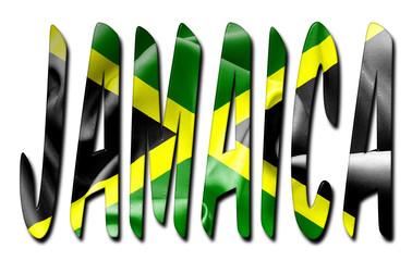 Jamaica Flag Texture Word