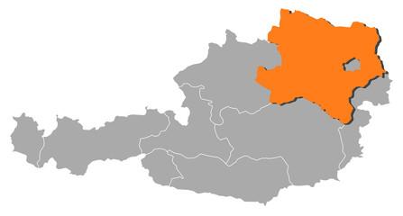 Map - Austria, Lower Austria