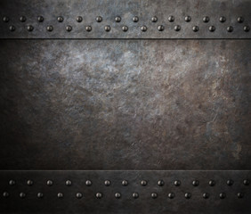 rust steel metal texture with rivets 3d illustration