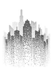 Vector Urban Cityscape Silhouette Illustration 2