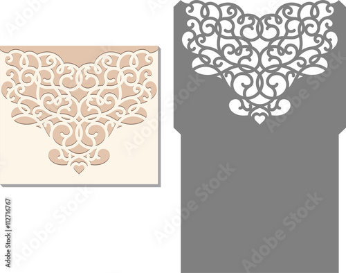 Laser Cut Invitation Card Laser Cutting Pattern For Invitation - Wedding invitation envelope template free