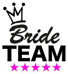 Bride Team, 5 stars, crown, wedding, bachelorette party
