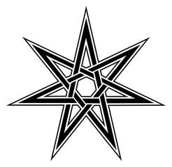 Fairy Star, elven star, heptagram, celtic knot