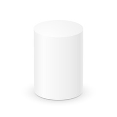 Blank white cylinder 3d template