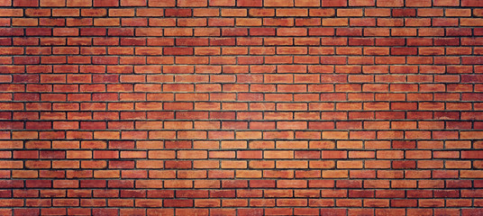Poster Brick wall Red brick wall texture for background