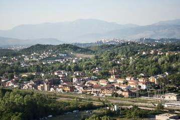 Panoramica di Ceccano, vista dall'alto