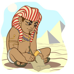Cartoon style Ancient Egyptian