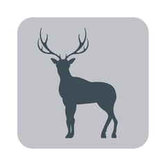 Silhouette of the deer icon