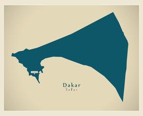 Modern Map - Dakar SN