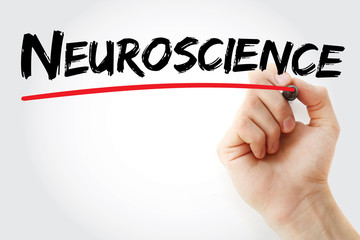 Hand writing Neuroscience with marker concept