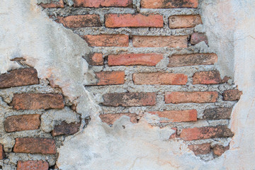 Crack brick wall background texture