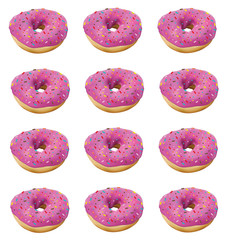 Donuts on a white background for your design