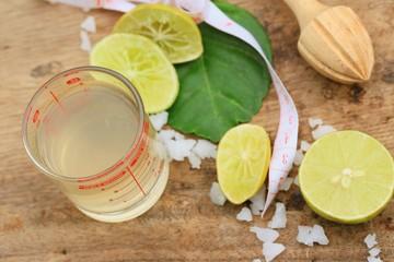 Herb drink lemon juice