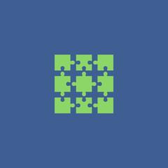 Puzzle Icon. Modern design flat style