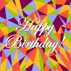 happy birthday colors pink card pattern