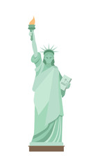 Statue of Liberty in New York. Flat style.