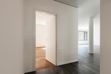 Interior, corridor with one doors