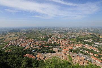 The Republic of San Marino. General view
