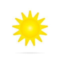Vector Yellow Sun Icon.