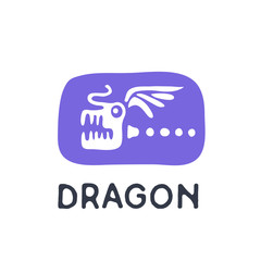 Dragon logo, vector illustration.