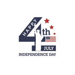 USA Independence day. stylish american independence day design