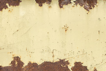 old rusty painted metal plate background
