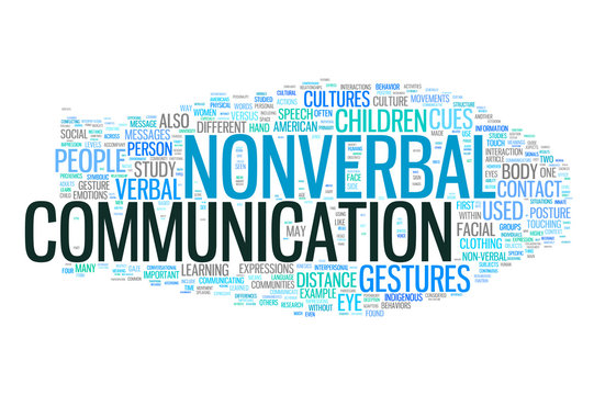 Nonverbal Communication collage of word concepts