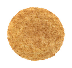Printed roller blinds Cookies Fresh baked snickerdoodle cookie top view isolated on a white background.