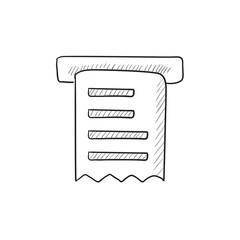 Receipt sketch icon.