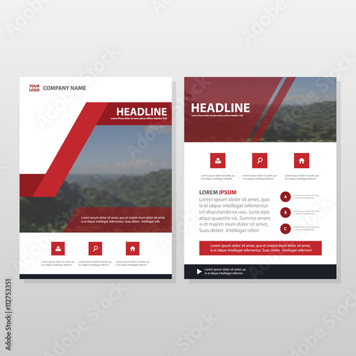 Red Book Cover Design : Quot red vector usiness proposal leaflet brochure flyer