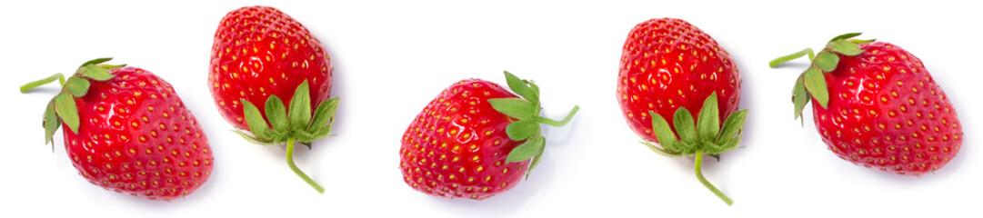 panorama ripe fresh red strawberries  pattern
