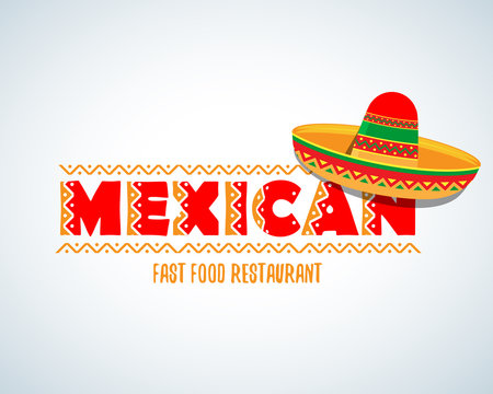 Mexican food logo. Mexican Fast food logotype template. Isolated Vector logo design template.