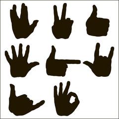 Vector set of hand gesture