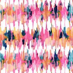 Watercolor ikat pattern.