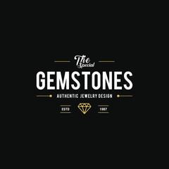 Diamond and Jewels Vintage label