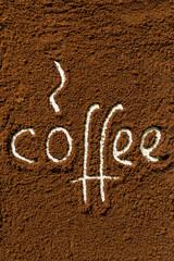 Coffee ground word