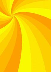 yellow curled sun rays